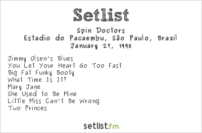 Spin Doctors Setlist Hollywood Rock 1995 1995