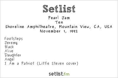 Pearl Jam Setlist Bridge School Benefit 1992 1992, Ten