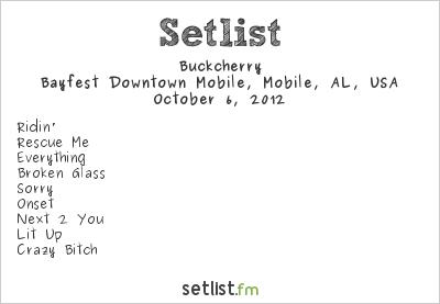 Buckcherry Setlist Bayfest 2012 2012