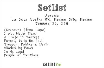 Acrania Setlist Perri Metal Fest 2018 2018