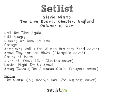 Stevie Nimmo Setlist The Live Rooms, Chester, England 2017