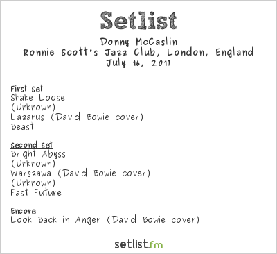 Donny McCaslin Setlist Ronnie Scott's Jazz Club, London, England 2017