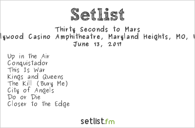 30 Seconds to Mars Setlist Hollywood Casino Amphitheatre, Maryland Heights, MO, USA 2017