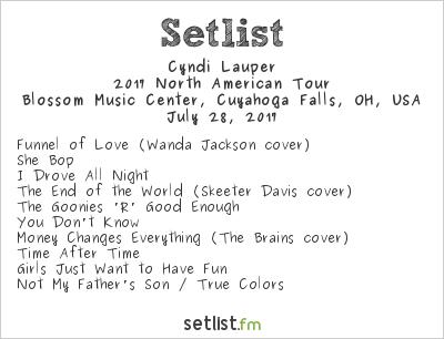 Cyndi Lauper Setlist Blossom Music Center, Cuyahoga Falls, OH, USA, Rod Stewart / Cyndi Lauper 2017