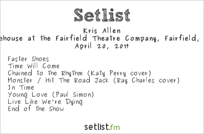 Kris Allen Setlist The Warehouse at the Fairfield Theatre Company, Fairfield, CT, USA 2017