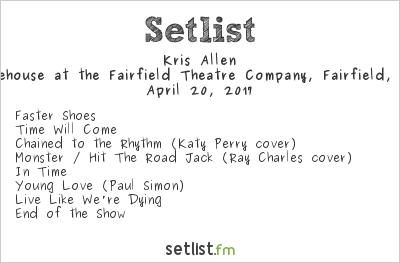 Kris Allen Setlist The Warehouse at the Fairfield Theatre Company, Fairfield, CT, USA 2017