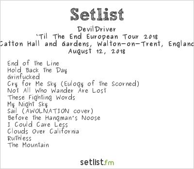 DevilDriver Setlist Bloodstock Open Air 2018, 'Til The End European Tour 2018