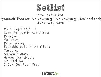 The Gathering Setlist Midsummer Prog Festival 2018 2018