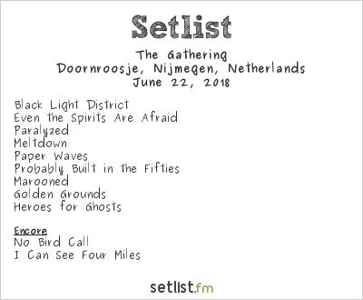 The Gathering Setlist Doornroosje, Nijmegen, Netherlands 2018