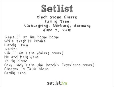 Black Stone Cherry Setlist Rock am Ring 2018 2018, Family Tree