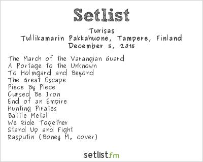Turisas Setlist Pakkahuone, Tampere, Finland 2015