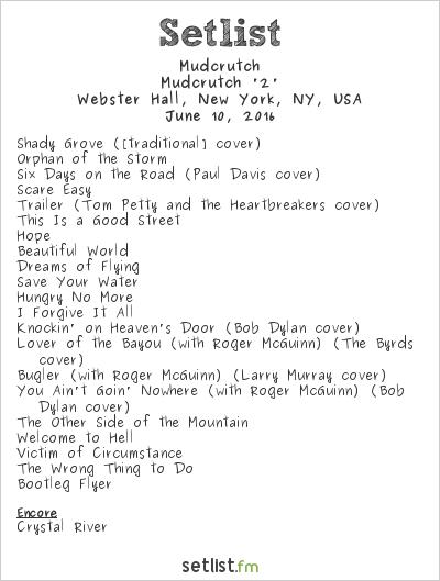 Mudcrutch Setlist Webster Hall, New York, NY, USA 2016, Mudcrutch '2'