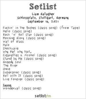 Liam Gallagher Setlist Jazzopen 2021 2021