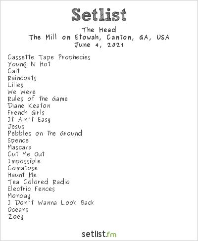 The Head at The Mill on Etowah, Canton, GA, USA Setlist