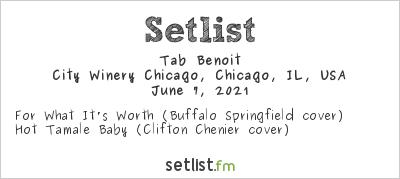 Tab Benoit at City Winery, Chicago, IL, USA Setlist
