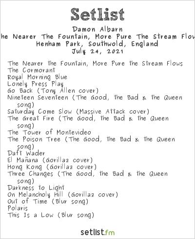 Damon Albarn Setlist Latitude Festival 2021 2021, The Nearer The Fountain, More Pure The Stream Flows