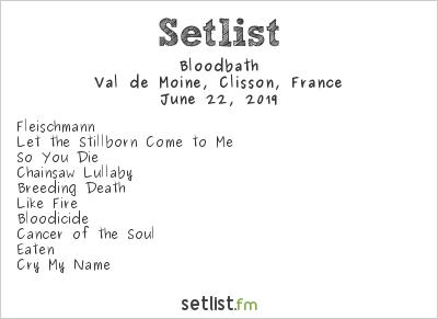 Bloodbath Setlist Hellfest 2019 2019