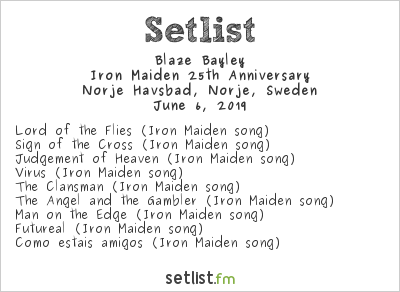 Blaze Bayley Setlist Sweden Rock Festival 2019 2019, Tour of the Eagle Spirit