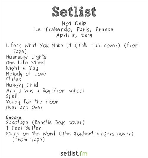 Hot Chip Setlist Le Trabendo, Paris, France 2019