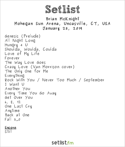Brian McKnight Setlist Mohegan Sun Arena, Uncasville, CT, USA 2019
