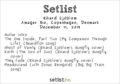 Rikard Sjöblom Setlist Amager Bio, Copenhagen, Denmark 2019