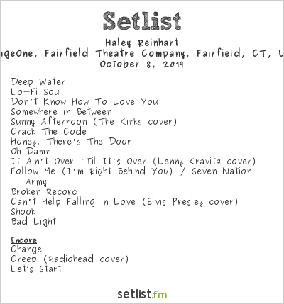 Haley Reinhart Setlist StageOne, Fairfield Theatre Company, Fairfield, CT, USA 2019