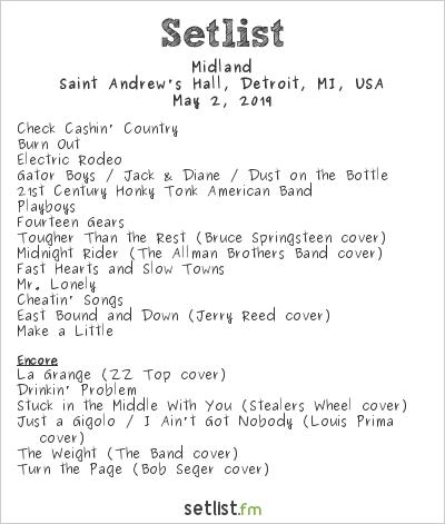 Midland at Saint Andrew's Hall, Detroit, MI, USA Setlist