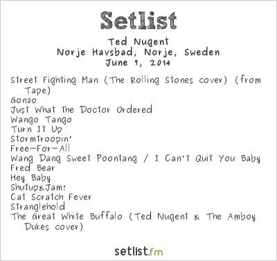 Ted Nugent Setlist Sweden Rock Festival 2014 2014