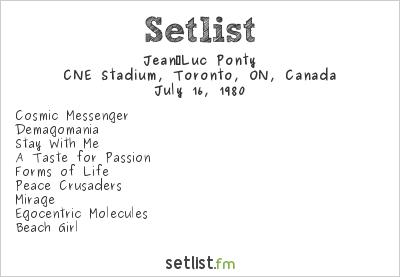 Jean-Luc Ponty Setlist CNE Stadium, Toronto, ON, Canada 1980