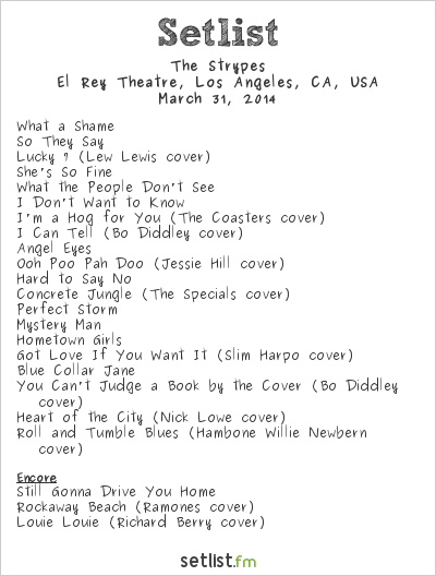The Strypes Setlist El Rey Theatre, Los Angeles, CA, USA 2014
