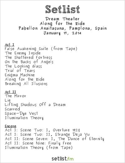 Dream Theater Setlist Pabellón Anaitasuna, Pamplona, Spain 2014, Along for the Ride