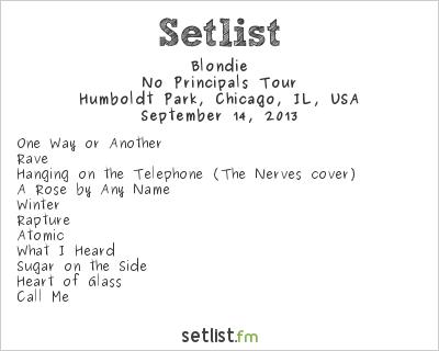 Blondie Setlist Riot Fest 2013 2013, No Principals Tour