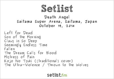Death Angel Setlist Loud Park 2014 2014