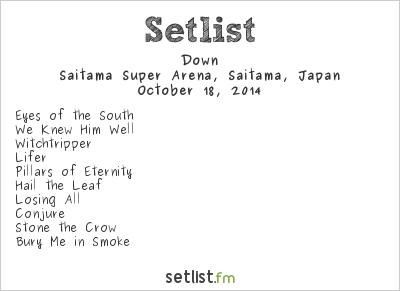 Down Setlist Loud Park 2014 2014