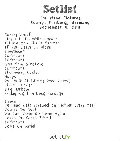 The Wave Pictures Setlist Swamp, Freiburg, Germany 2011