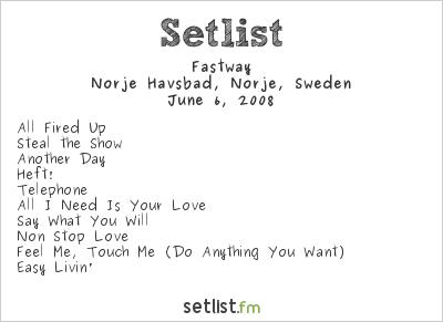 Fastway Setlist Sweden Rock Festival 2008 2008