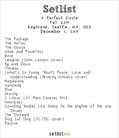 A Perfect Circle Setlist KeyArena, Seattle, WA, USA, Fall 2017