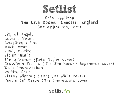 Erja Lyytinen Setlist The Live Rooms, Chester, England 2017
