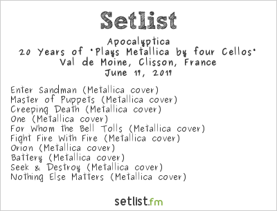 Apocalyptica Setlist Hellfest 2017 2017, 20 Years of