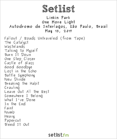 Linkin Park Setlist Maximus Festival Brazil 2017 2017, One More Light World Tour