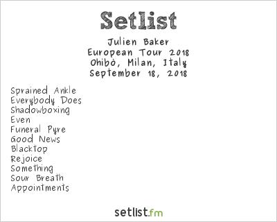 Julien Baker Setlist Arci Ohibò, Milan, Italy, European Tour 2018