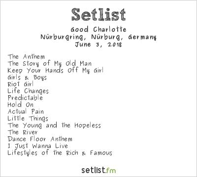 Good Charlotte Setlist Rock am Ring 2018 2018