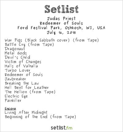 Judas Priest Setlist Rock USA Festival 2015 2015, Redeemer of Souls