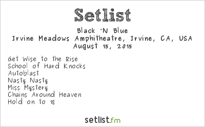 Black 'n Blue Setlist Cathouse Live 2015 2015