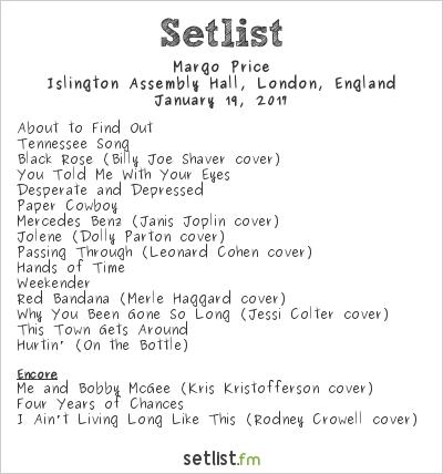 Margo Price Setlist Islington Assembly Hall, London, England 2017