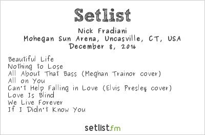 Nick Fradiani Setlist 96.5 Tic All Star Christmas 2016 2016