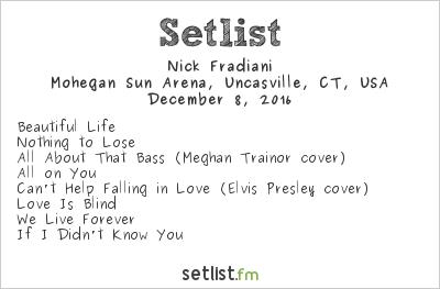 Nick Fradiani Setlist 96.5 Tic All Star Christmas 2016 2016