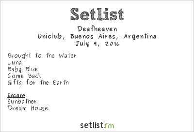 Deafheaven Setlist Uniclub, Buenos Aires, Argentina 2016