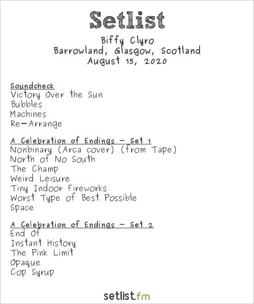 Biffy Clyro Setlist Barrowland, Glasgow, Scotland 2020