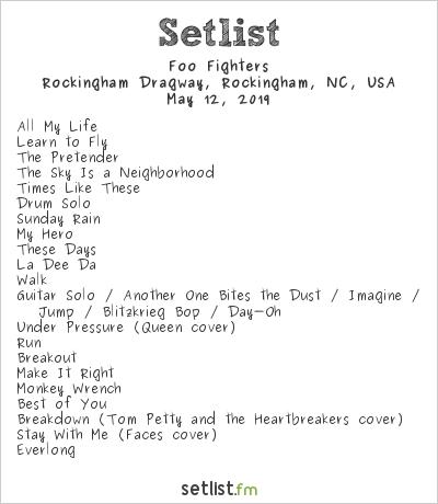 Foo Fighters Setlist Epicenter 2019 2019